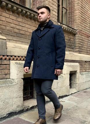 Premium кашемировое зимнее пальто с мехом (48-56)