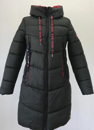 Зеленая зимняя батальная куртка (44-60)