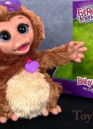 Интерактивная обезьянка hasbro furreal friends. состояние новой