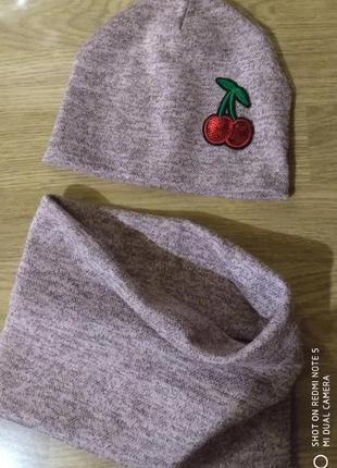 Комплект шапка хомут снуд