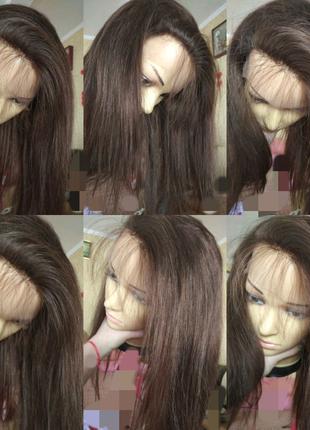 Натуральний реалистичный парик детские славянские волосы 45 см