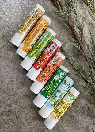 Натуральні бальзами для губ з бджолиного воску, оливкової олії