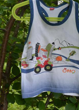 Детская майка  для мальчика - борцовка рост 86 логотип otto