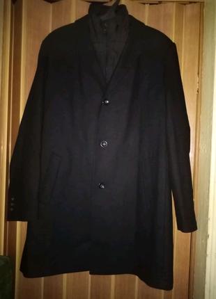 Очень крутое шерстяное пальто Van Graaf