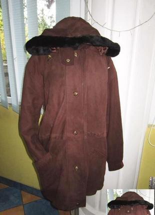 Женская кожаная куртка с капюшоном. германия. лот 580