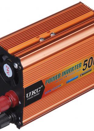 Инвертор преобразователь UKC POWER с 24 на 220 вольт 500W