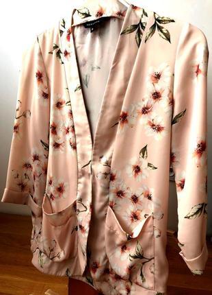 Жакет из тонкой ткани c цветочным принтом от new look