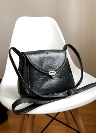 Кожаная кросс боди сумка