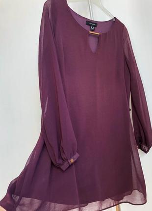 Платье туника свободного кроя, бордовое от atmosphere