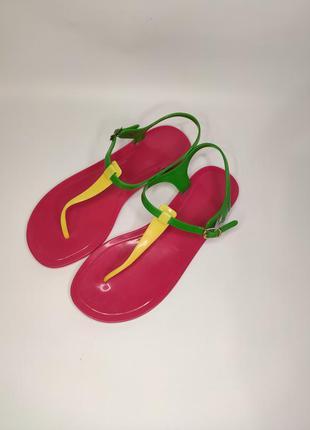 Ocean club яркие силиконовые сандалии вьетнамки