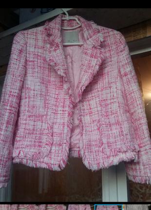 Пиджак проищводство франция.ткань -букле.