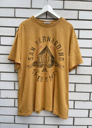 Новая,повседневная футболка с принтом по груди,большой размер,...