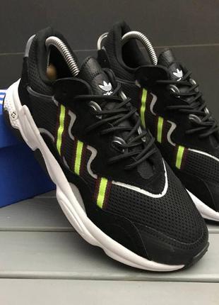 Кроссовки мужские adidas ozweego черные / кросівки чоловічі...