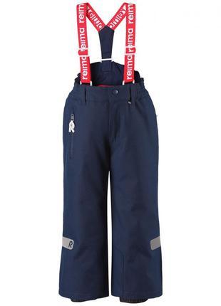 Зимние брюки на подтяжках для мальчика reimatec. размер 134