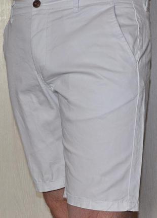 """Белые мужские брендовые шорты asos w32"""" коттон 100% капри бриджи"""