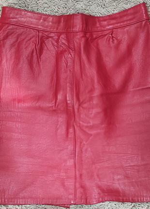 Gavin brown мини юбка красная кожа натуральная короткая