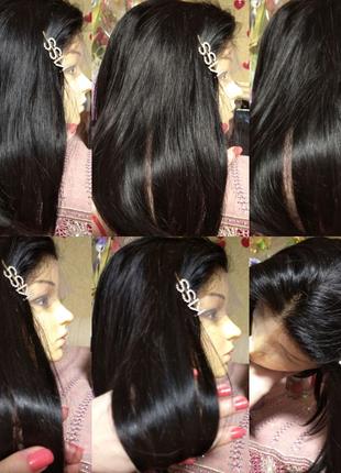 Натуральный парик Реми детские славянские волосы 45 см