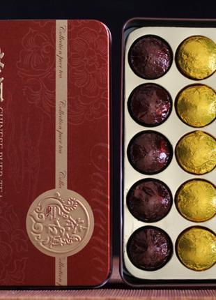 Пуэр Шу Шен Чай Китайский пуер на подарок, красивый подарочный на