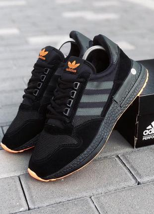 Кроссовки мужские adidas zx 500 rm черные / кросівки чоловічі...