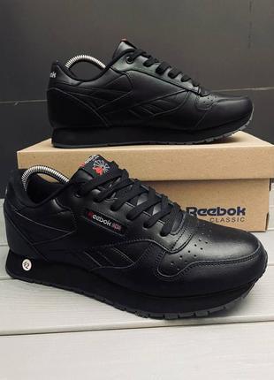 Кроссовки мужские reebok classic черные / кросівки чоловічі ри...