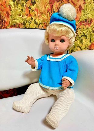 Большая винтажная кукла - пупс гдр. Германия