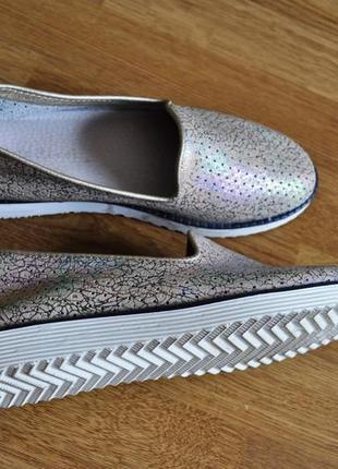 Стильные лоферы туфли мокасины  натуральная кожа