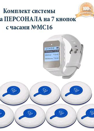 Cистема вызова персонала для больниц RCALL с часами №MC16