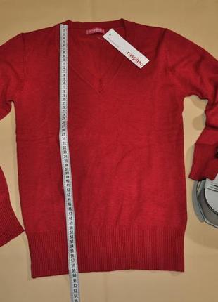 Шикарный свитер джемпер кофта пуловер красного вишнёвого цвета