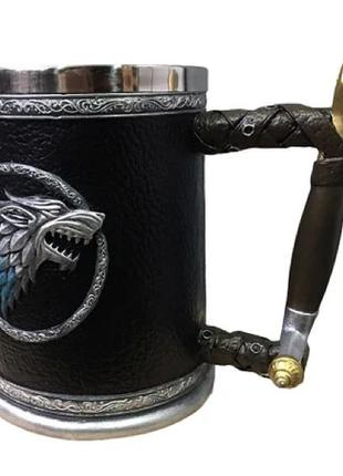 Кружка Чашка Бокал Игра Престолов Winter is Coming Stark Targarye