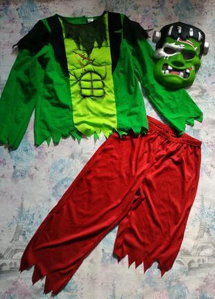 Карнавальный костюм на хэллоуин франкенштейн монстр зомби