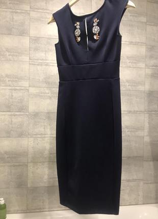 Платье карандаш 🔥zara🔥 платье футляр миди
