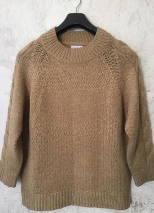 Актуальный свитер, джемпер, с косами, свободный крой, реглан, ...