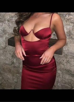 Платье шикарного винного цвета 🔥 Шикарно садится по фигурке😍