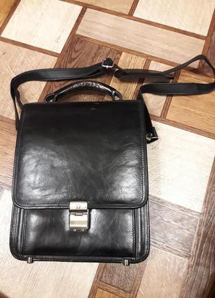 Мужской портфель сумка с секретом. размер 33х24х10