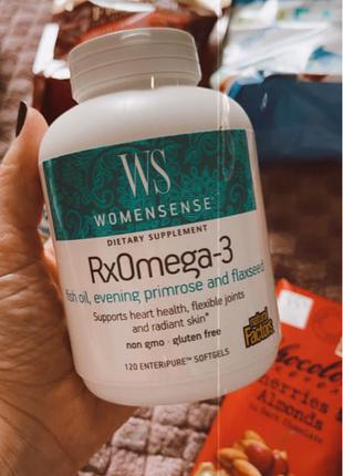 Natural Factors, RxOmega3, женская смесь, 120 капсул.
