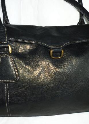 Стильная большая сумка натуральная кожа