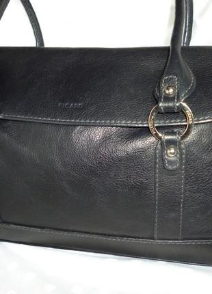 Стильная вместительная сумка натуральная кожа picard германия