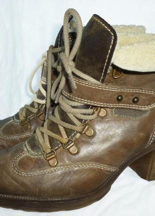 Стильные ботинки натуральная кожа  gabor