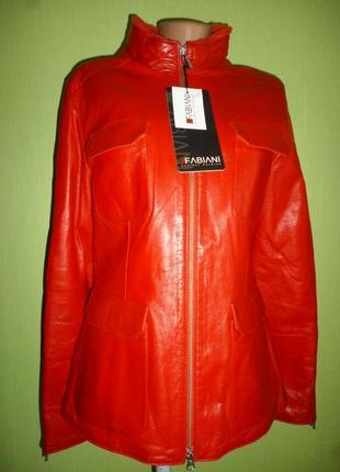 Стильная дубленка- куртка натуральная кожа + овчинка новая