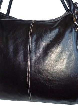Стильная большая сумка натуральная кожа l credi италия