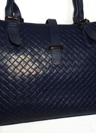 Стильная вместительная сумка натуральная кожа secretime