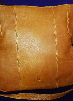 Стильная большая сумка натуральная кожа rowallan