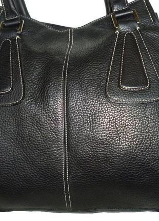 Стильная большая сумка натуральная кожа tignanello