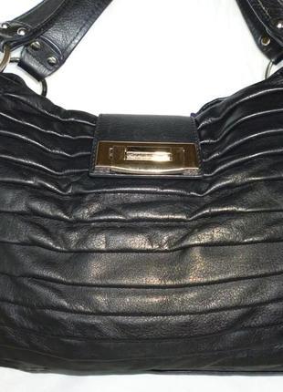 Стильная вместительная сумка натуральная кожа linea