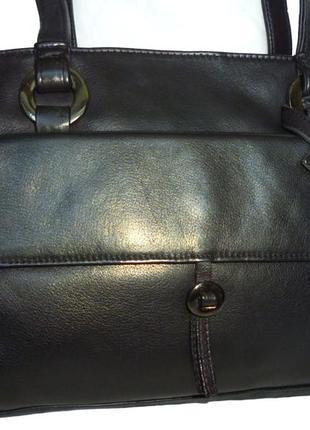 Стильная вместительная сумка натуральная кожа lakeland