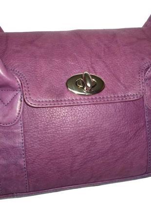 Стильная вместительная сумка натуральная мраморная кожа tommy&...