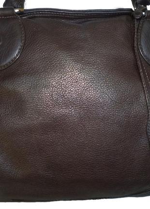 Стильная большая сумка натуральная кожа pasito италия