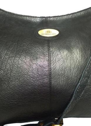 Стильная вместительная сумка натуральная кожа rowallan