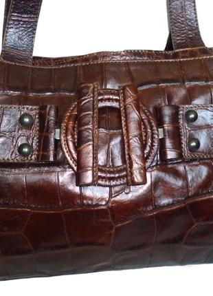 Стильная вместительная сумка натуральная кожа jjb benson