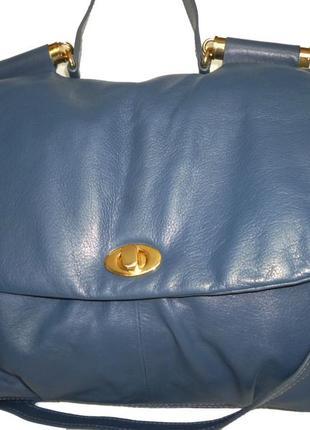 Шикарная большая сумка натуральная кожа meddison